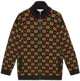 Gucci Zip Gg Star Cotton Jacquard Bomber Jacket