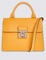 Marks and Spencer Faux Leather Top Handle Tote Bag
