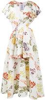 Rosie Assoulin floral print cutout dress - women - Silk/Cotton/Viscose - 4