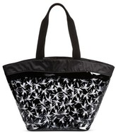 Mossimo Women's Jelly Beach Tote with Nylon Pouch Black