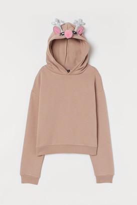 H&M Printed hooded top