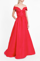 Marchesa Off-Shoulder Gown
