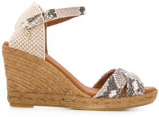 Kurt Geiger Leona espadrille wedge sandals