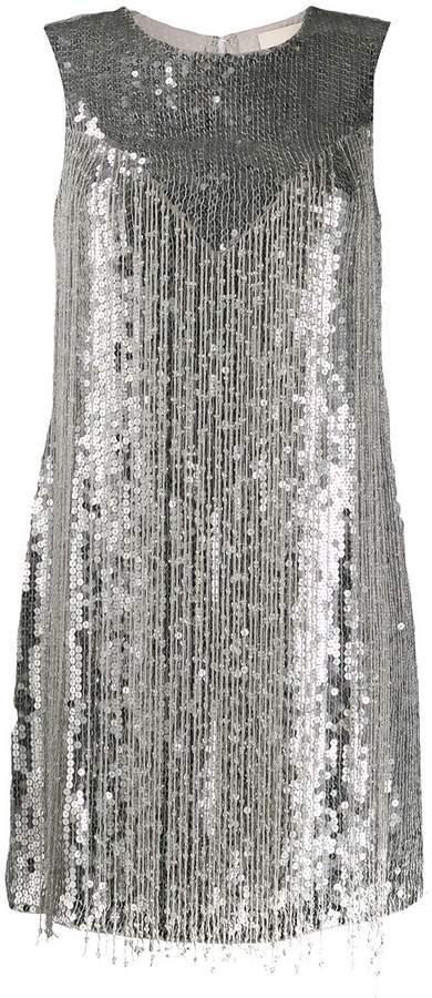 Aniye By sequin fringe dress