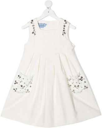 Mi Mi Sol Stud Embellished Flared Dress