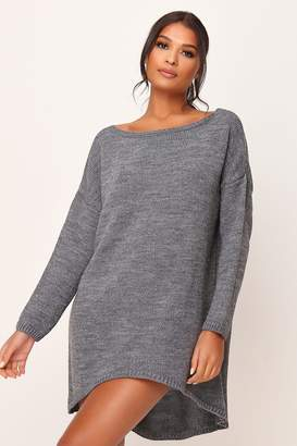 I SAW IT FIRST OVERSIZED KNITTED JUMPER Dress