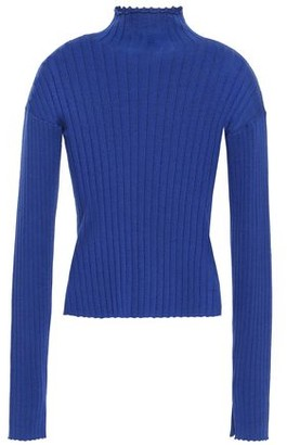 N.Peal Ribbed Cashmere And Silk-blend Turtleneck Sweater