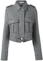J.W.Anderson houndstooth pattern jacket - women - Polyamide/Viscose/Wool - 10
