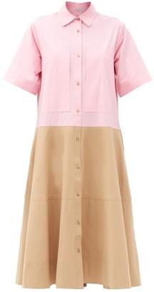 Lee Mathews May Bi-colour Cotton Shirt Dress - Multi
