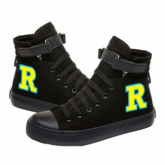 Yamyamdan Riverdale Shoes Canvas Shoes Student Sports Shoes Casual Fashion Trend Wild Style Shoes Youth Campus Style Simple Adult Unisex (Color : Black04 Size : EU36 US5.5)
