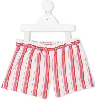 Piccola Ludo Striped Casual Shorts