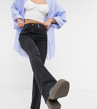Collusion x008 high waisted flared jeans in black
