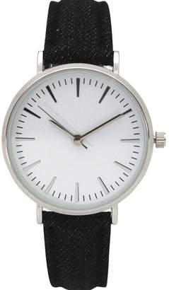 Olivia Pratt Denim Womens Black Strap Watch-17441black
