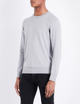 Sandro Crewneck cotton and wool-blend jumper