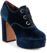 Marc Jacobs Beth Lace-Up Velvet Platform Booties