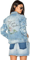 The Laundry Room Heart Breaker Moto Club Jacket in Blue. - size L (also in M)