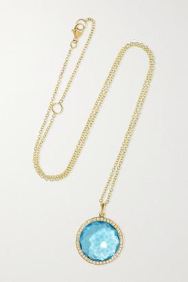 Ippolita Lollipop Medium 18-karat Green Gold, Topaz And Diamond Necklace