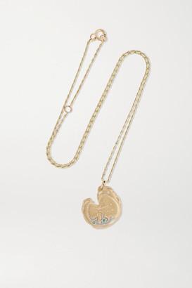 Pascale Monvoisin Calypso N1 9-karat Gold, Emerald And Diamond Necklace