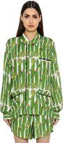 Sanchita Cactus Printed Silk Twill Shirt
