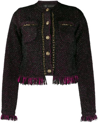 Versace Tweed Fringed Jacket