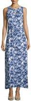 MICHAEL Michael Kors Jersey Tie-Dye Print Maxi Tank Dress, Real Navy