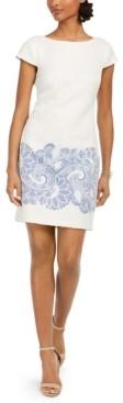 Vince Camuto Petite Paisley-Print Sheath Dress