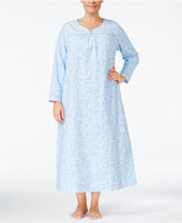 Charter Club Plus Size Printed Flannel Nightgown, Only at Macy's