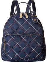 Tommy Hilfiger Julia Dome Triple Quilt Nylon Backpack Backpack Bags