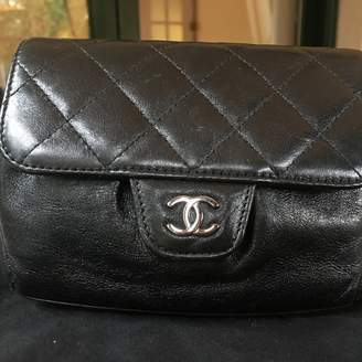 Chanel Timeless/Classique Black Leather Clutch bags