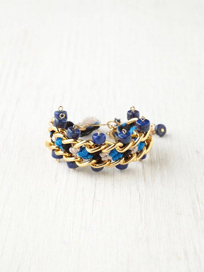 Kris Nations Chain Threaded Bead Bracelet