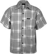 Guytalk men's plaid short sleeve button down shirts 2XL