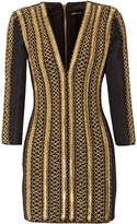 Balmain Embellished woven mini dress