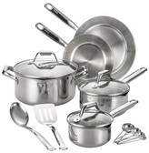 T-Fal Stainless Steel Cookware Set 14-pc