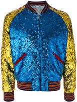 Gucci sequin bomber jacket - men - Silk/Polyamide/Polyester/Alpaca - 50