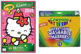 Crayola Hello Kitty Giant Coloring Pad & 12-CT. Marker Set