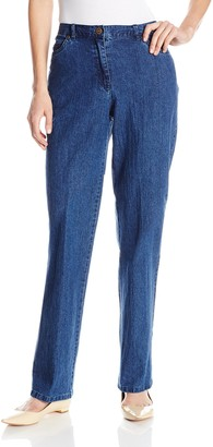 Ruby Rd. Women's Classic Flat Front Denim Jean