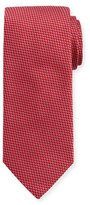 Eton Woven Two-Tone Textured Neat Silk Tie, Pink/Red