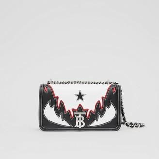 Burberry Small Topstitch Applique Leather Lola Bag