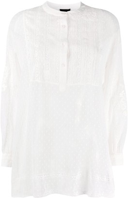 Ermanno Ermanno Long-Sleeve Lace Blouse