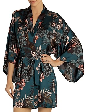 Midnight Bakery Tropical Floral Print Robe