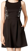 Jessica Simpson Women's Sleeveless Paneled Fit and Flare Dress