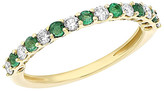 Diana M Fine Jewelry 0.53 Ct. Tw. Diamond & Emerald Ring