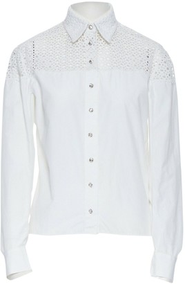 Alaia White Cotton Top for Women