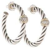 David Yurman Diamond Cable Classics Hoop Earrings