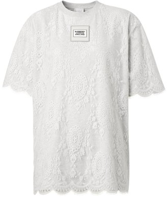 Burberry Logo Lace T-Shirt