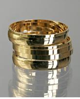 set of 6 - polished gold mixed bangles