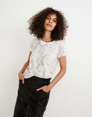 Madewell The Perfect Vintage Tee in Marble Print