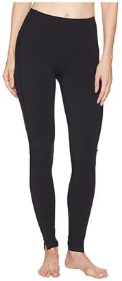 Spanx Hem Slit Leggings (Very Black) Women's Clothing