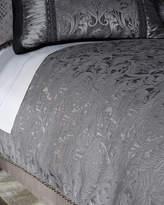 Dian Austin Couture Home Queen Aviana Damask Plisse Duvet Cover