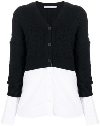 Alexander Wang Layered Cable-Knit Cardigan